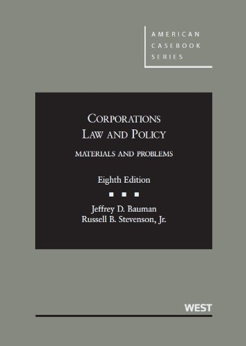 Corporations Law and Policy Materials and Problems 8th 2013 (Revised) edition cover