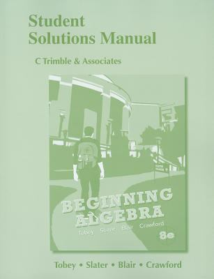 Student Solutions Manual for Beginning Algebra  8th 2013 (Revised) edition cover