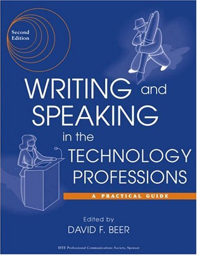 Writing and Speaking in the Technology Professions A Practical Guide 2nd 2003 (Revised) edition cover