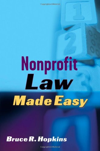 Nonprofit Law Made Easy   2005 edition cover