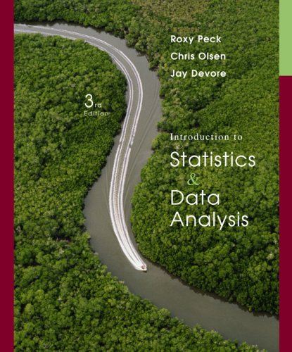 Introduction to Statistics and Data Analysis  3rd 2008 edition cover