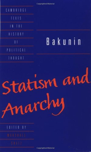 Bakunin Statism and Anarchy  1990 edition cover