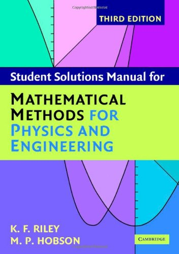 Mathematical Methods for Physics and Engineering  3rd 2006 (Student Manual, Study Guide, etc.) edition cover