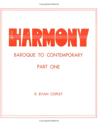 Harmony Pt. 1 : Baroque to Contemporary 2nd edition cover