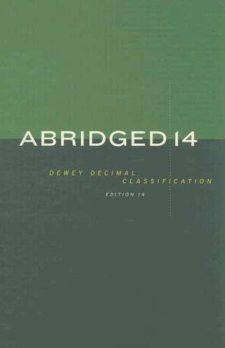 Abridged Dewey Decimal Classification and Relative Index 4th 2004 edition cover