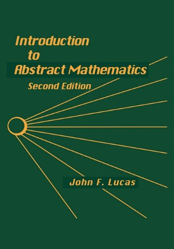 Introduction to Abstract Mathematics  2nd 9780912675732 Front Cover