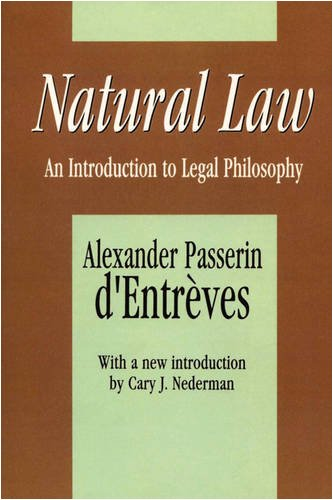 Natural Law An Introduction to Legal Philosophy 3rd 1994 9781560006732 Front Cover