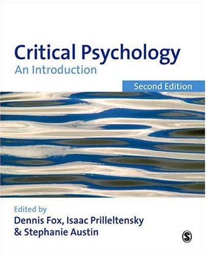 Critical Psychology An Introduction 2nd 2009 edition cover