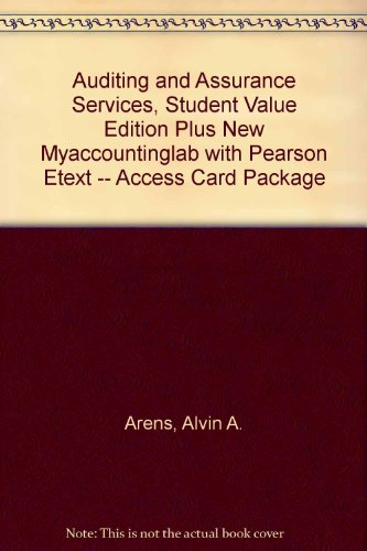 Auditing and Assurance Services, Student Value Edition Plus NEW MyAccountingLab with Pearson EText -- Access Card Package  15th 2014 edition cover