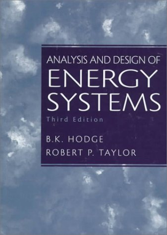 Analysis and Design of Energy Systems  3rd 1999 edition cover