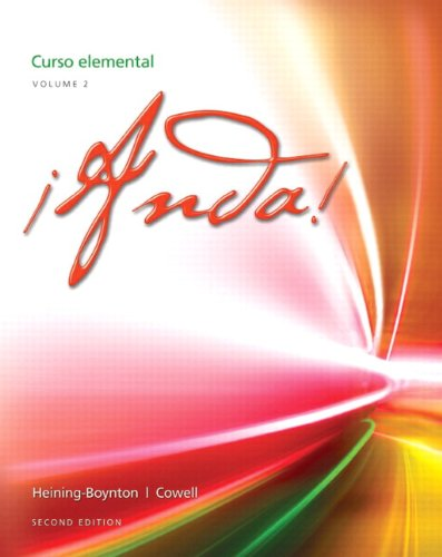 �Anda! - Curso Elemental  2nd 2013 (Revised) edition cover