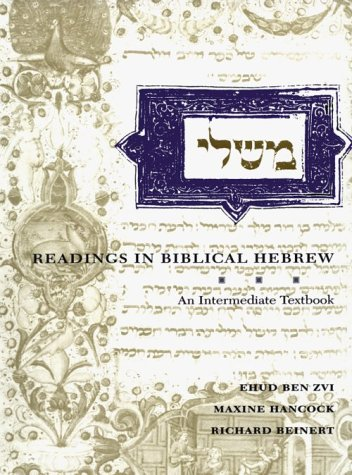 Readings in Biblical Hebrew An Intermediate Textbook  1993 edition cover