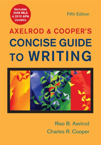 Axelrod and Cooper's Concise Guide to Writing with 2009 MLA and 2010 APA Updates  5th edition cover