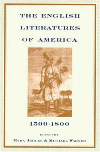 English Literatures of America 1500-1800  1997 edition cover