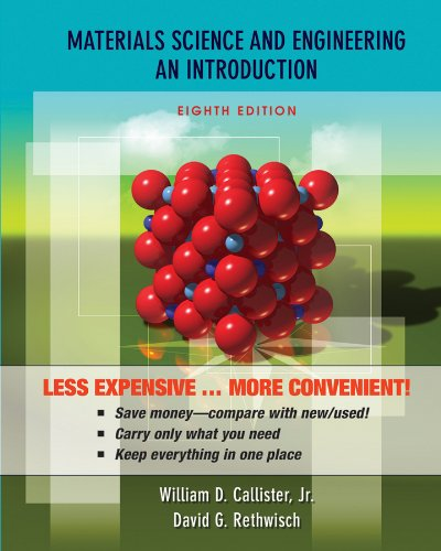 Materials Science and Engineering An Introduction 8th 2010 edition cover