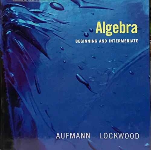 Algebra Beginning and Intermediate 2nd 2008 9780618820733 Front Cover
