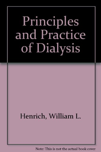 Principles and Practice of Dialysis  1994 9780683039733 Front Cover