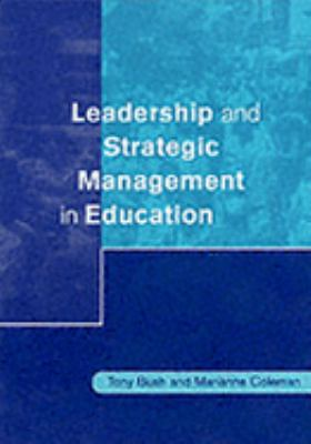 Leadership and Strategic Management in Education   2001 9780761968733 Front Cover
