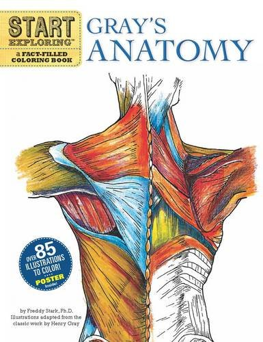 Gray's Anatomy A Fact-Filled Coloring Book N/A edition cover