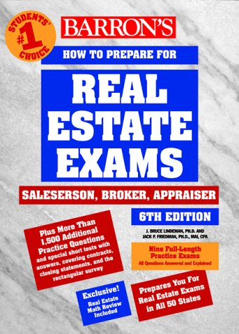 How to Prepare for Real Estate Examinations 6th 2000 9780764107733 Front Cover