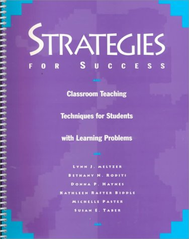 Strategies for Success Classroom Teaching Techniques for Students with Learning Problems  1996 (Revised) 9780890796733 Front Cover