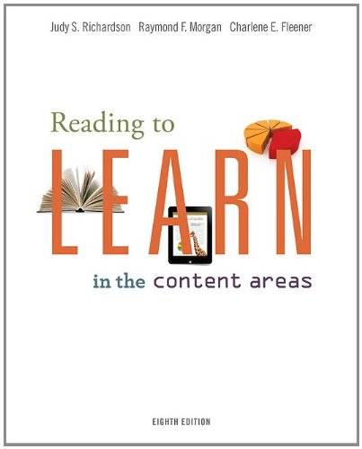 Reading to Learn in the Content Areas  8th 2012 edition cover