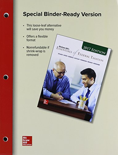 MCGRAW-HILL ESSEN.OF FED.TAX.2017 (LL)  N/A 9781259730733 Front Cover