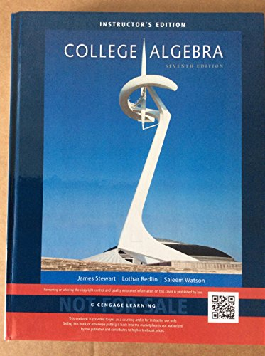 COLLEGE ALGEBRA >INSTRS.ED<             N/A 9781305116733 Front Cover