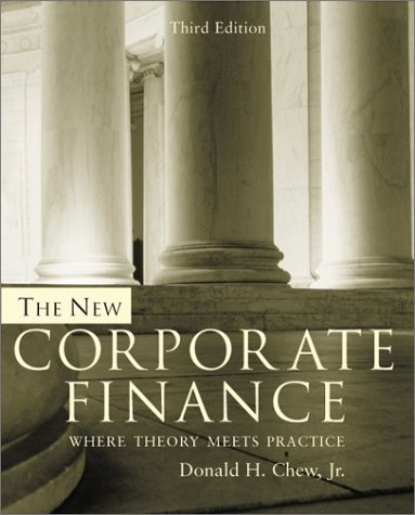 New Corporate Finance  3rd 2001 (Revised) edition cover