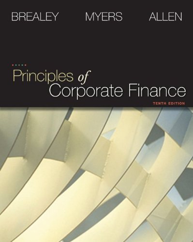 Principles of Corporate Finance  10th 2011 edition cover