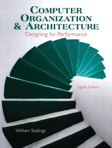 Computer Organization and Architecture Designing for Performance 8th 2010 edition cover