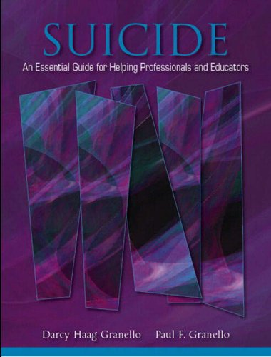 Suicide An Essential Guide for Helping Professionals and Educators  2007 edition cover