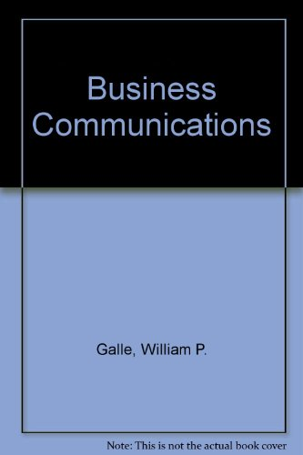 Business Communications  1996 (Student Manual, Study Guide, etc.) 9780256227734 Front Cover