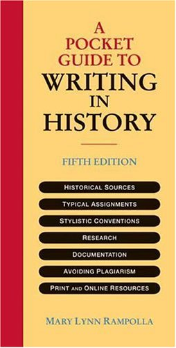 Pocket Guide to Writing in History  5th 2007 edition cover