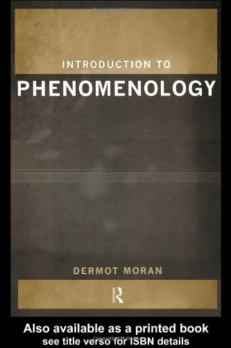 Introduction to Phenomenology   1999 edition cover