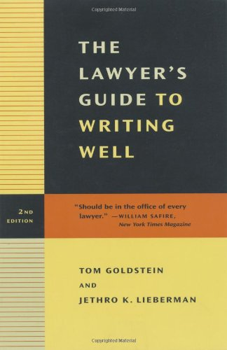 Lawyer's Guide to Writing Well  2nd 2002 edition cover