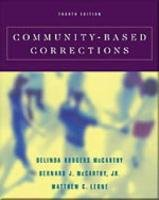 Community-Based Corrections  4th 2001 (Revised) edition cover