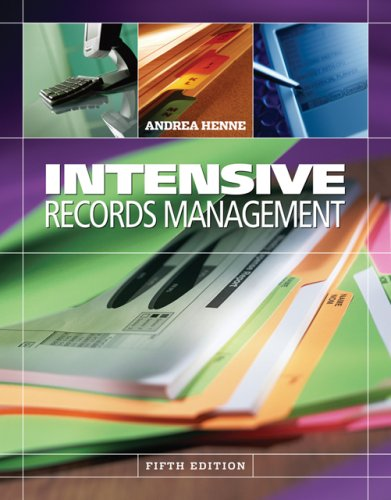 Intensive Records Management  5th 2007 (Revised) 9780538729734 Front Cover