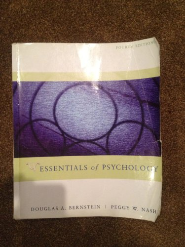 ESSENTIALS OF PSYCHOLOGY >CUST 4th 2008 9780618951734 Front Cover