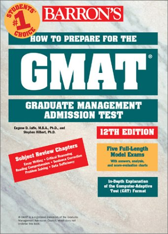 How to Prepare for the GMAT 12th 2001 9780764113734 Front Cover