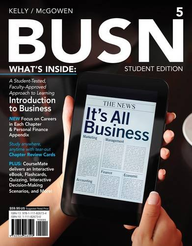 BUSN 5  5th 2013 edition cover