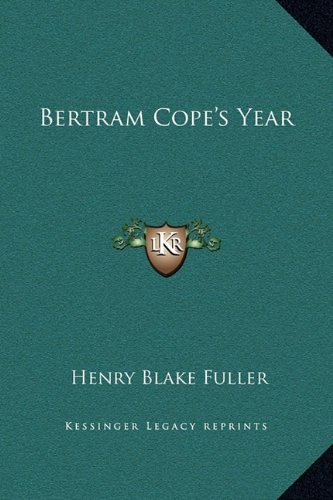Bertram Cope's Year N/A 9781169289734 Front Cover