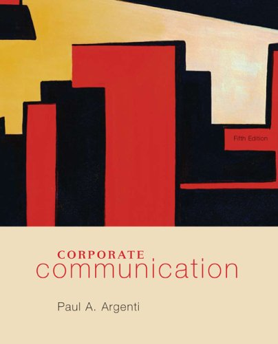 Corporate Communication  5th 2009 edition cover