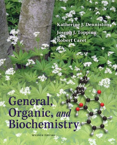 Student Study Guide/Solutions Manual General, Organic and Biochemistry  7th 2011 edition cover