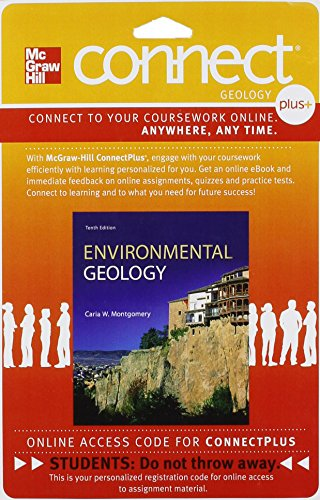ENVIRONMENTAL GEOLOGY-CONNECT GEOL.PLUS N/A 9780077791735 Front Cover