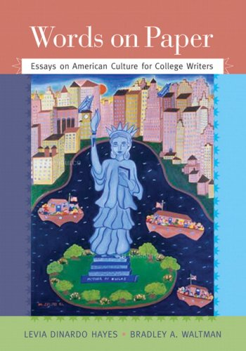 Words on Paper Essays on American Culture for College Writers  2009 edition cover