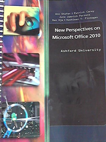 NEW PERSP.ON MS.OFFICE 2010 >C N/A 9780495980735 Front Cover