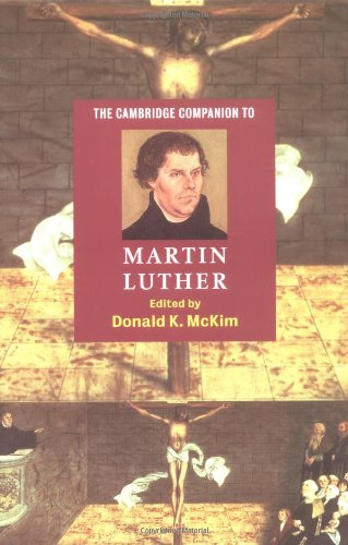 Cambridge Companion to Martin Luther   2003 edition cover