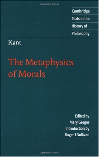 Metaphysics of Morals  2nd 1996 edition cover