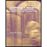 Learning and Behavior:: Biological, Psychological and Sociocultural Perspectives 1st 2004 edition cover